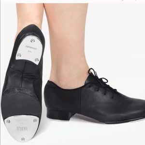Bloch black leather techno tap shoes size 7.5